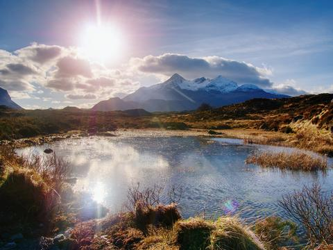 The Cuillins Isle of Skye seen from Sligachan. Hills and mountains Photo