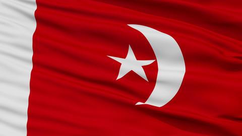 Closeup Umm al Qaiwain city flag, United Arab Emirates Animation