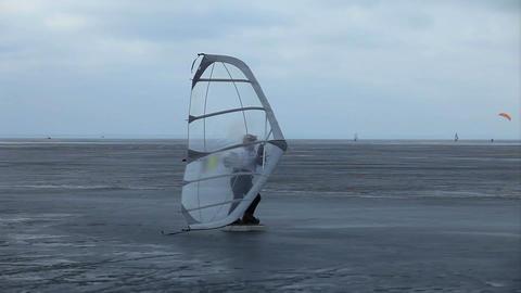 winter kitewing Footage