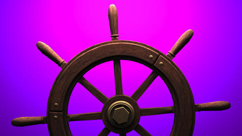 Rudder on purple background Animation