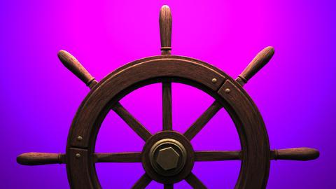 Rudder on purple background CG動画