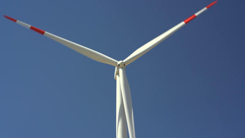 Windmills converting wind energy into electricity Footage