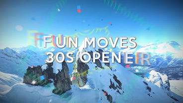 Fun Moves 30s Opener - Apple Motion and Final Cut Pro X Template Apple Motionテンプレート