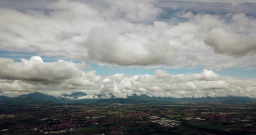 Aerial View Of Po Valley In Northern Italy ビデオ