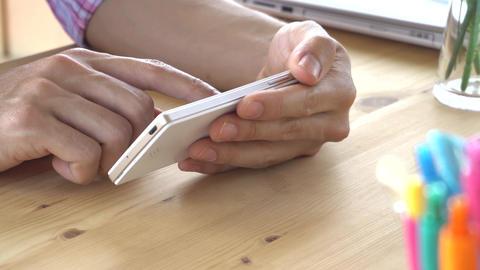 Pink Scott Shirt Businessman Slide Zoom Touch Horizontal Smartphone Back Close Footage
