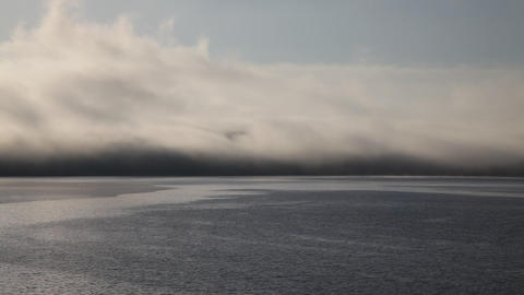 Foggy seascape Footage