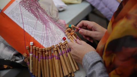 Bobbin lace handicraft Live Action