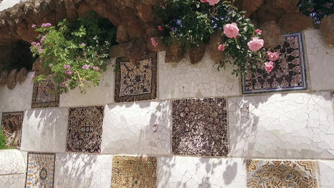 Park Guell architecture Footage