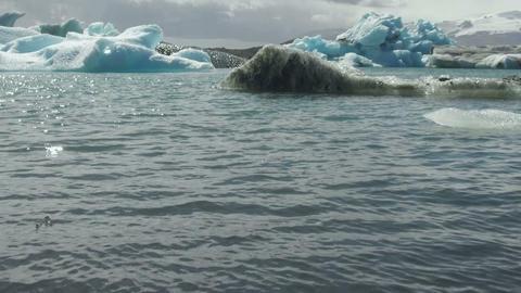 Jökulsárlón Glacial lagoon. Iceland GIF