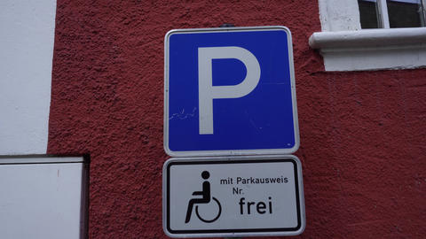 Parking Sign Letter P, Germany GIF