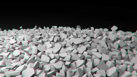 Animation of a collapsing wall Footage