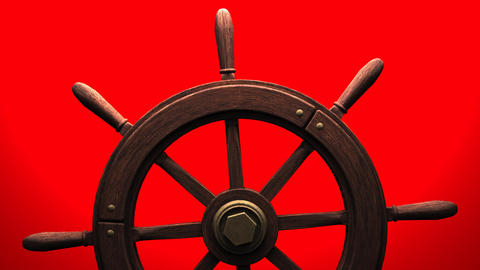 Rudder on red background Animation