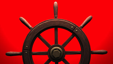 Rudder on red background CG動画