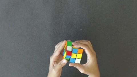 Rubik's Cube Stock Video Footage