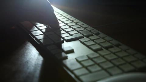 keyboard shadow 02 Stock Video Footage