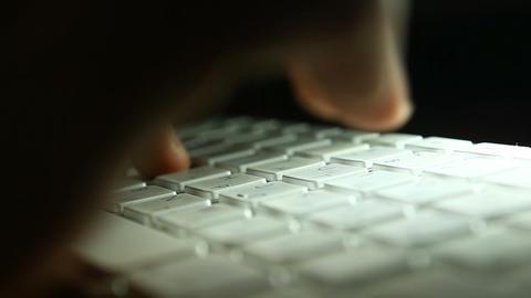 keyboard shadow 04 Stock Video Footage