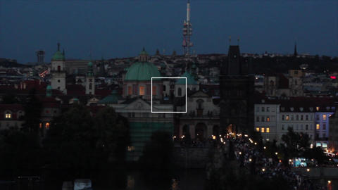 Prague City 9 Stock Video Footage