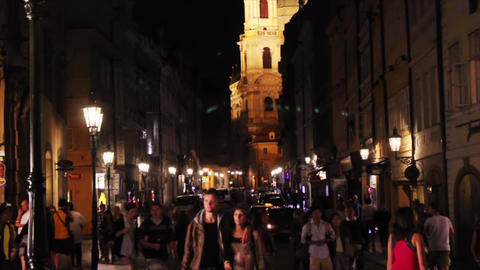 Prague Street 2 Stock Video Footage