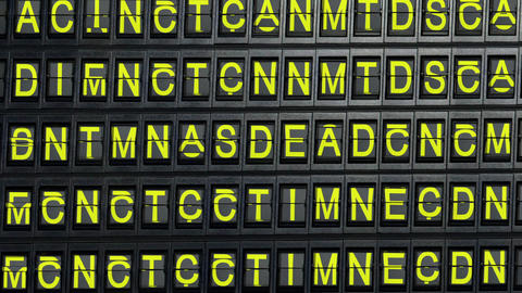 departure board error Stock Video Footage