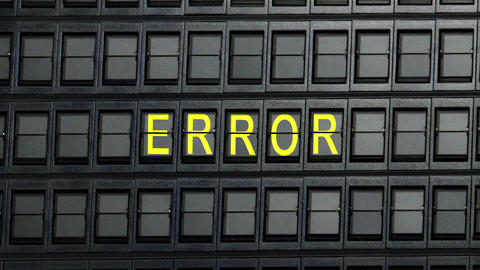 Departure Board Error stock footage