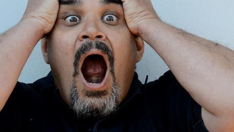 man yelling Stock Video Footage
