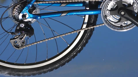 Bike In Motion Stock Video Footage