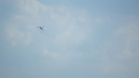 Airplanes In Sky Stock Video Footage