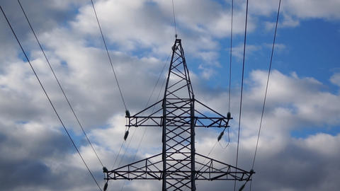 Energy Power Line stock footage