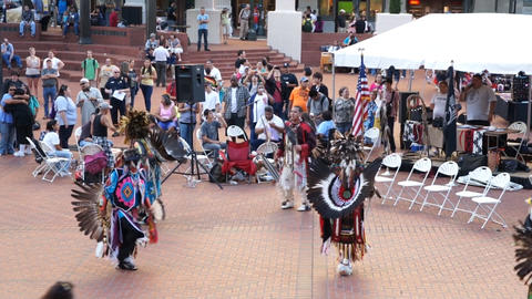 American Indian tribe dance, Portland, USA Footage