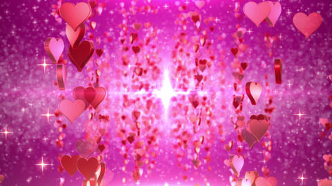heart particule line 01A Stock Video Footage