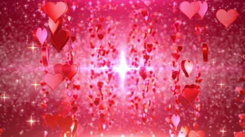 heart particule line 01C Stock Video Footage