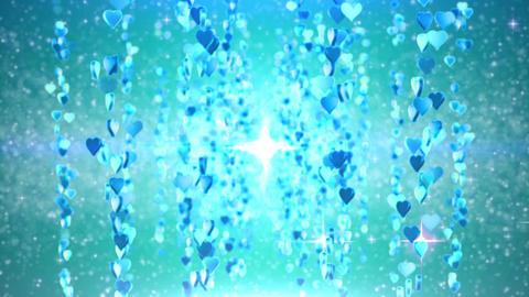 heart particule line 01E Stock Video Footage