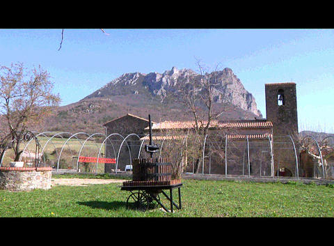 Bugarach Church Stock Video Footage