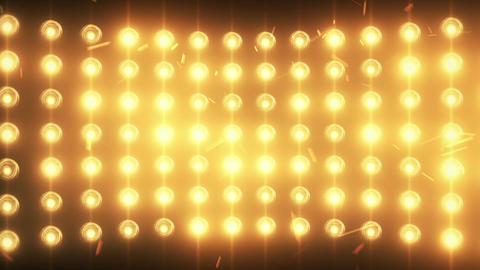 Bright Flood Lights Background With Particles And Glow stock footage