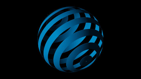 globe blue Stock Video Footage