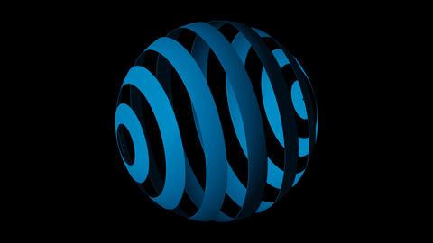 globe blue Animation