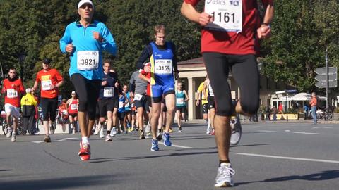 Marathon In Berlin Stock Video Footage