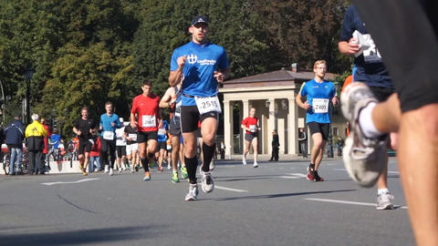 Marathon In Berlin Stock Video Footage