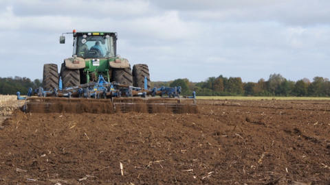 Tractor At Work Stock Video Footage