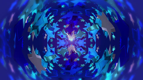 star 3d kaleid 2 BG 03 A Stock Video Footage