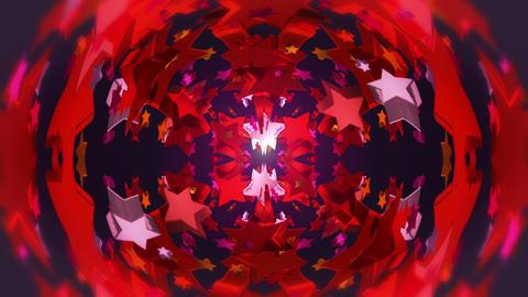 star 3d kaleid 2 BG 03 C Stock Video Footage