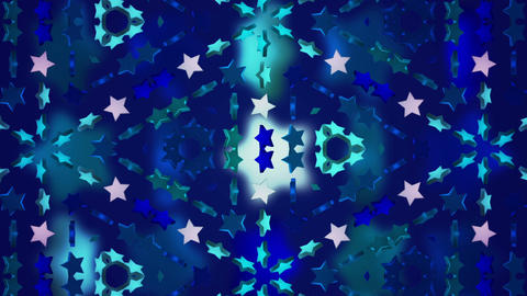 star 3d kaleid BG 02 A Stock Video Footage