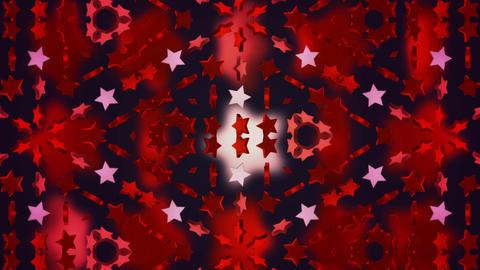star 3d kaleid BG 02 C Stock Video Footage