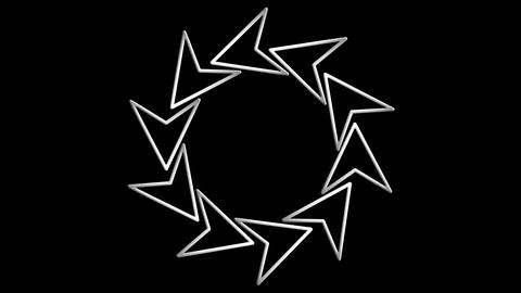 arrow rotation Stock Video Footage