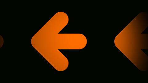 orange arrow Stock Video Footage