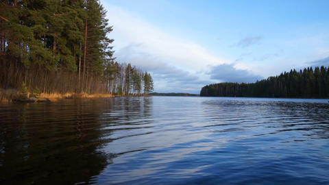Lake In Finland Footage