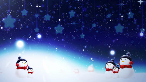 Snowman Christmas Card Stock Video Footage