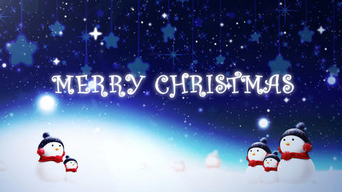 Snowman Christmas Card CG動画