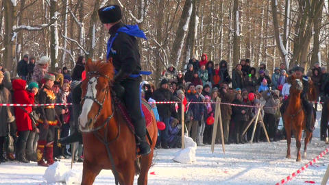 Cossacks On Horses stock footage