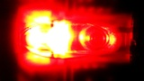 Techno Red Light Glowing stock footage